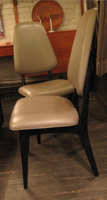 Pair of High Back Norwegian Dining Chairs