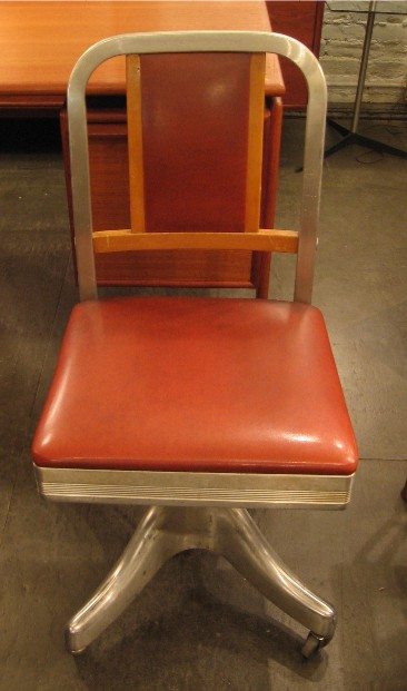 Shaw Walker Aluminum and Wood Task Chair