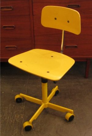 Kevi Chair by Jorgen Rasmussen in Yellow