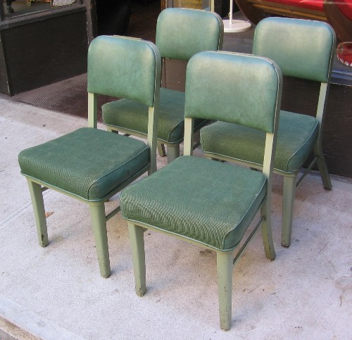 Set of Four Steelcase Tanker Side Chairs