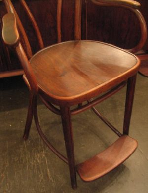 Old Thonet Bentwood Billiard Stool with Heart Shaped Back