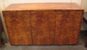 Burl Wood Credenza by Paul Mayen for Intrex