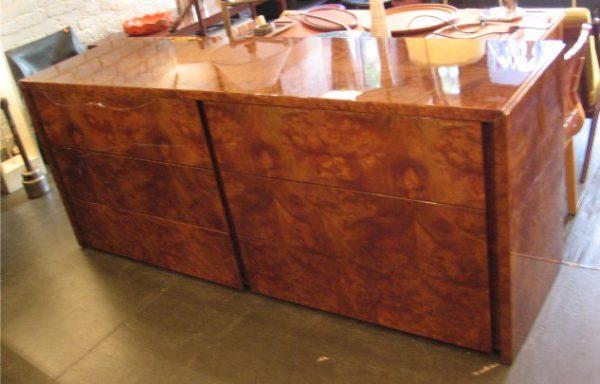 Burl Wood Dresser by Paul Mayen for Intrex
