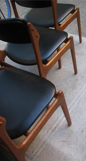Set of Six Erik Buck Teak Dining Chairs
