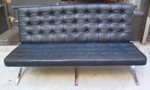 Mies van der Rohe Barcelona Style Settee Sofa