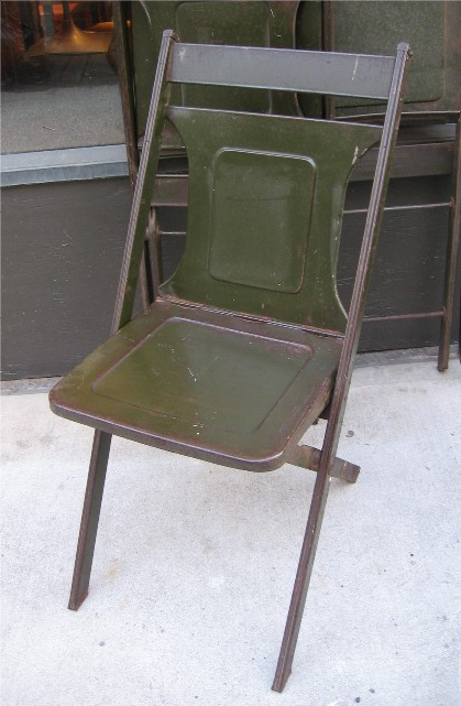 Metal Chairs from the 1920s by Maple City Stamping
