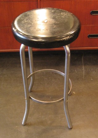 Metal Stool from the 1950s by Howell