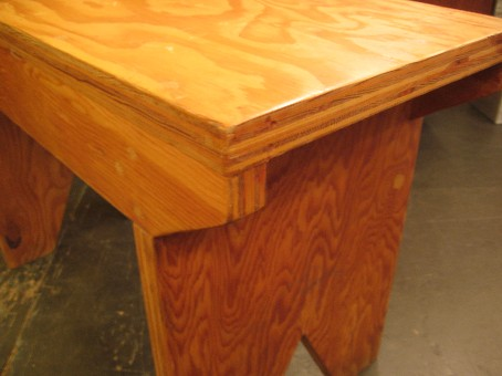 Homemade Plywood Bench