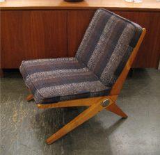 Pierre Jeanneret Scissor Chair for Knoll International 1957