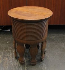 Solid Oak Antique Stool / Table