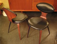 Norman Cherner Plycraft Upholstered Side Chairs