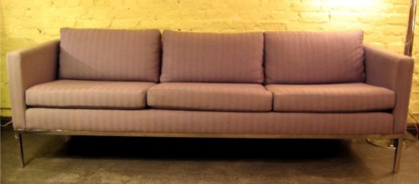 Steel Framed Three Seat Sofa