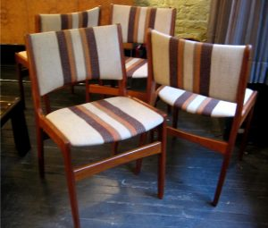 Set of Four Solid Teak Danish Side Chairs