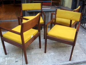 Set of Four George Nelson Arm Chairs