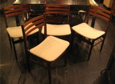 Set of Four Teak Side Chairs