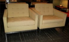 Pair of Florence Knoll Club Chairs