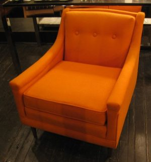 Orange Upholstered Club Chair