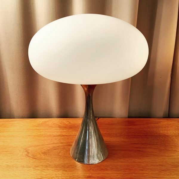 Laurel Mushroom Table Lamp with Hour Glass Base