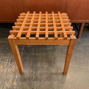 Oak Latticework Side Table