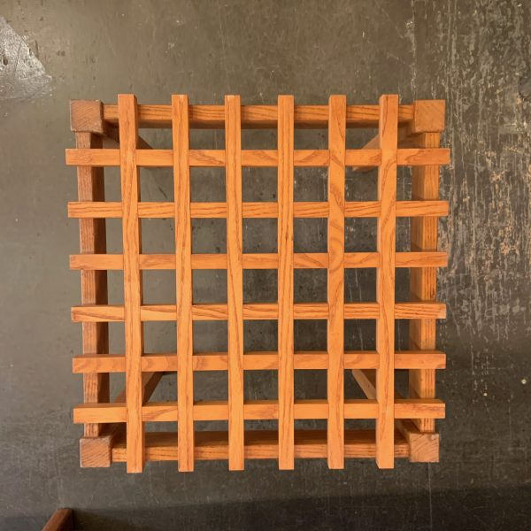 Oak Latticework Side Table