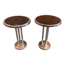 Machine Age Wolfgang Hoffman Chrome & Bakelite Cocktail Tables