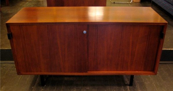Florence Knoll Four Foot Walnut Credenza