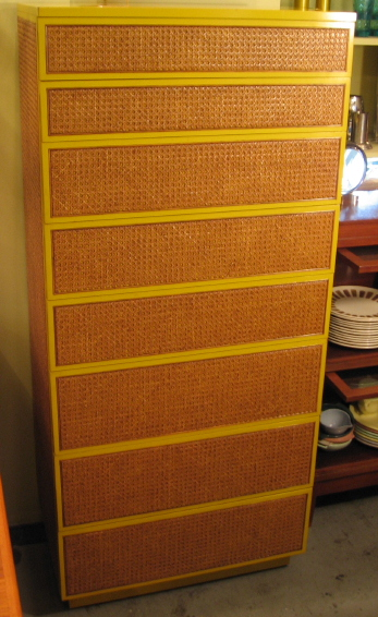 Caned Tall Dresser by Directional