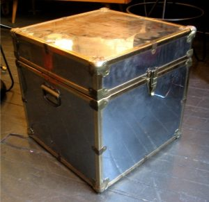 Chrome & Brass Clad Decorative Trunk