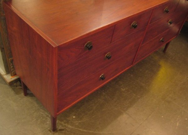Eight Drawer Double Dresser in Walnut