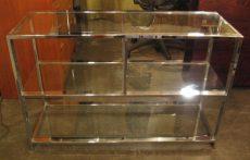 Design Institute of America Chrome & Glass Low Etagere