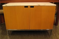 Florence Knoll 2 Door Marble Top Credenza
