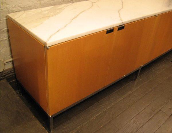 Florence Knoll 4 Door Marble Top Credenza