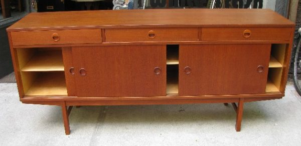 Folke Ohlsson Long Teak Credenza for Dux