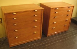 Edward Wormley Precedent Five Drawer Dressers for Drexel