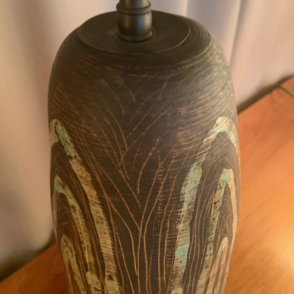 1950's Studio Pottery Ceramic Lamp
