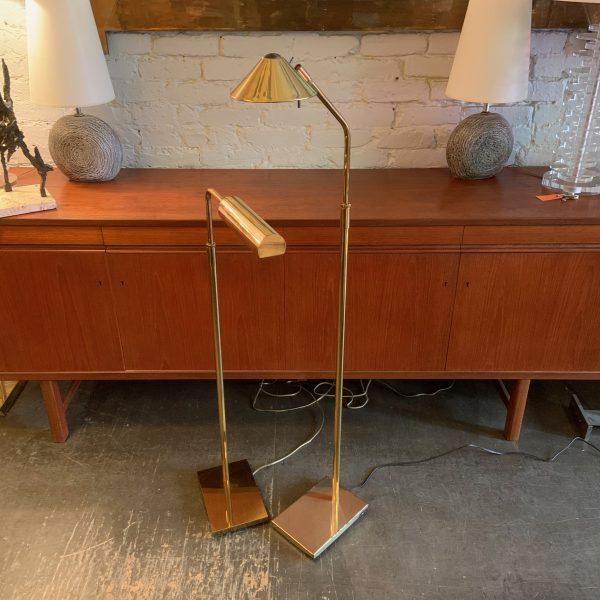 Koch & Lowy Articulating Brass Floor Lamp