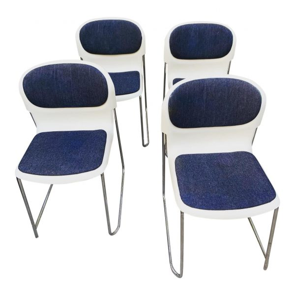 Gerd Lange Stacking Chairs for Swing Set of 4
