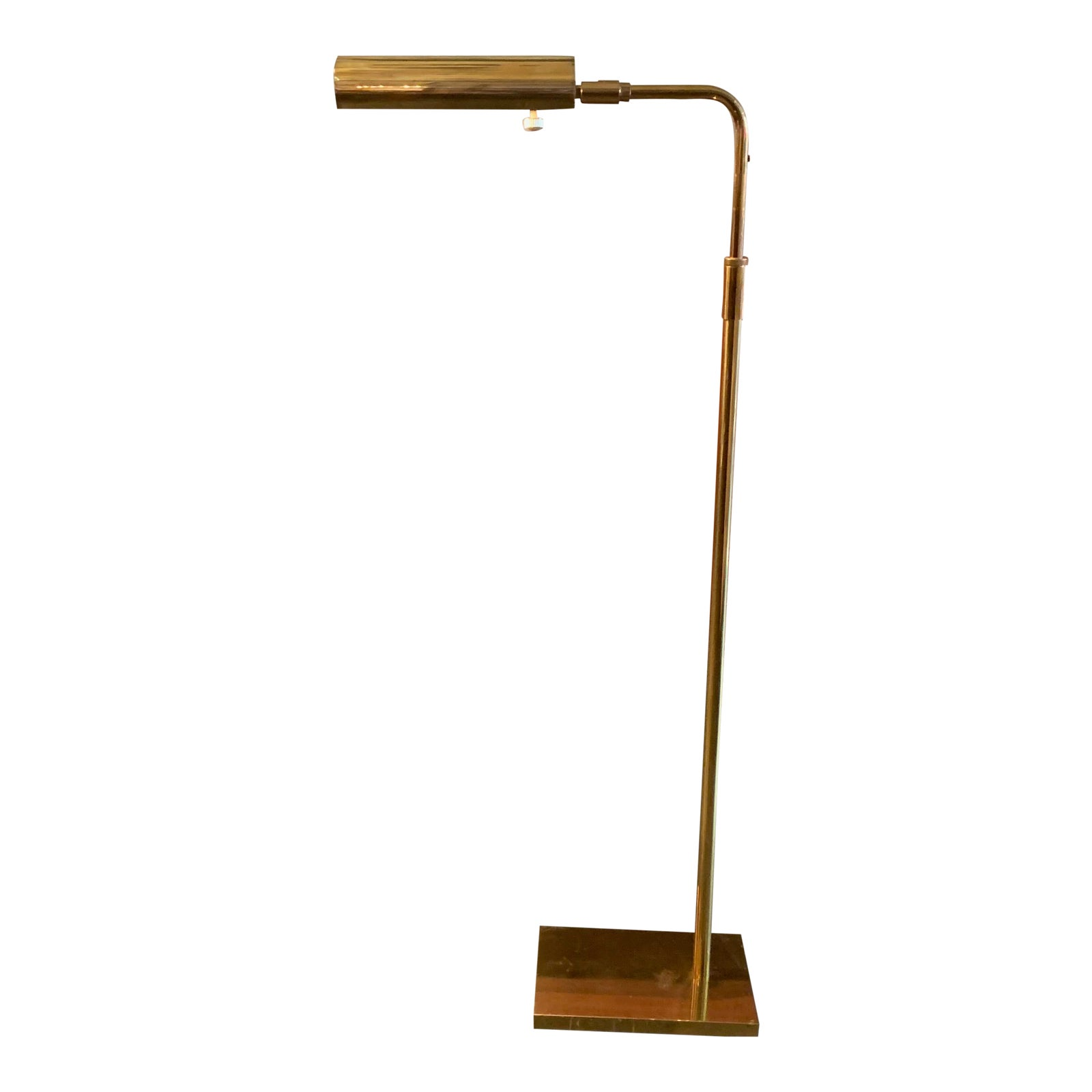 Koch & Lowy Articulating Brass Floor Lamp