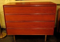 Four Drawer Teak Bachelors Chest by Westnofa