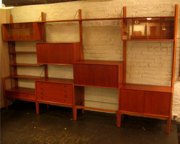 Freestanding Teak Wall Unit from Norway