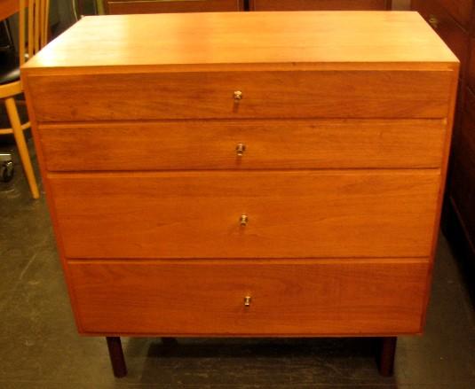 Four Drawer Solid Walnut Dresser