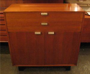 George Nelson 2 Drawer Over 2 Door Walnut Cabinet