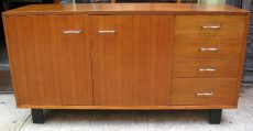 George Nelson Walnut Credenza with Pretzel Pulls