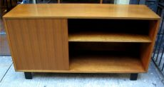 George Nelson Single Door Walnut Credenza