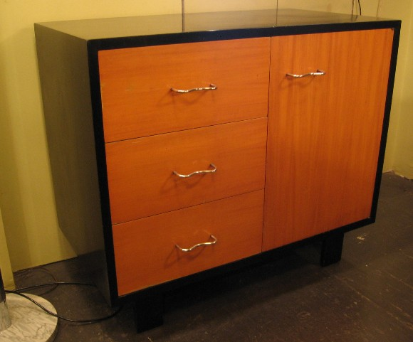 George Nelson 3 Drawer 1 Door Two Toned Cabinet