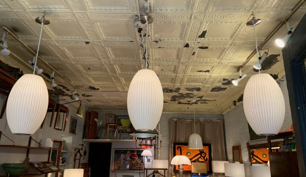 George Nelson Cigar Shaped Pendant Lamps