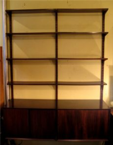 Poul Cadovius 2 Bay Cado Wall System in Brazilian Rosewood