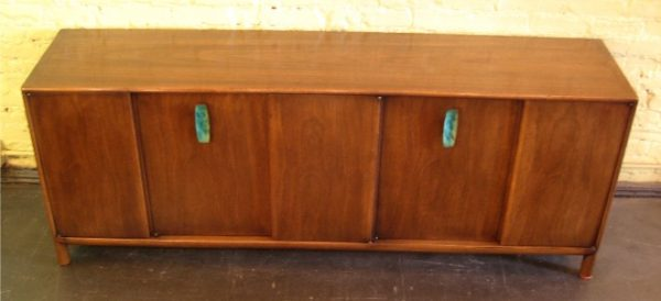 Low Walnut Credenza by Ray Sobota