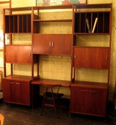 Large Freestanding Walnut Wall Unit