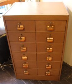 Large Industrial Twelve Drawer Cabinet